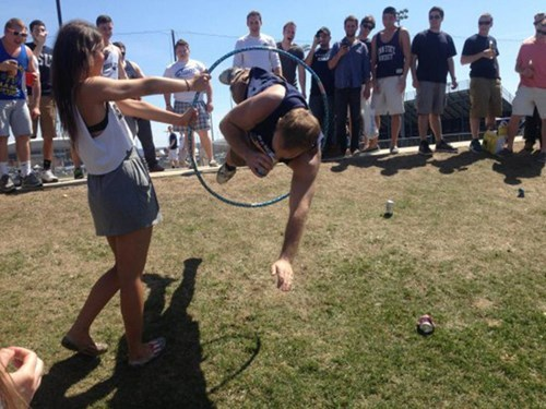 beer,after 12,hula hoop,jumping through hoops