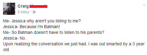 By Definition, Batman Doesn't Have to Listen