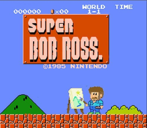 bob ross,mashups,Super Mario bros