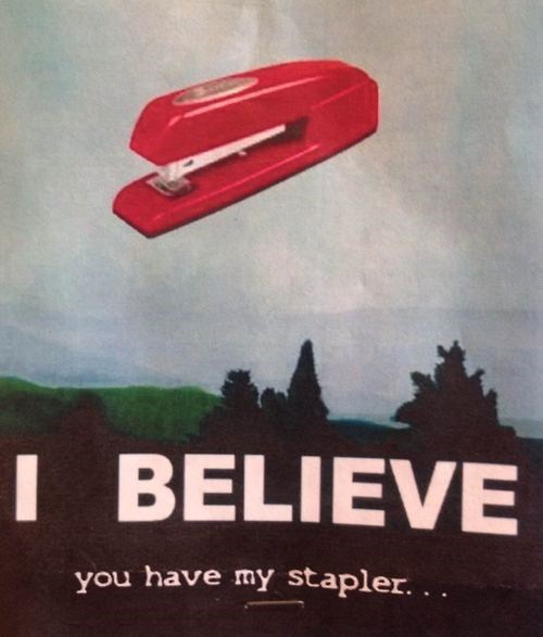 monday thru friday Office Space stapler the x-files - 8171063040