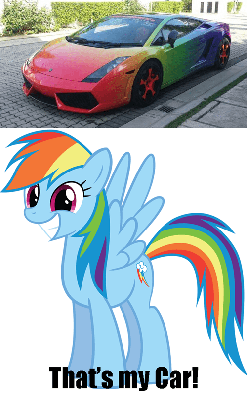 car paint job rainbow dash
