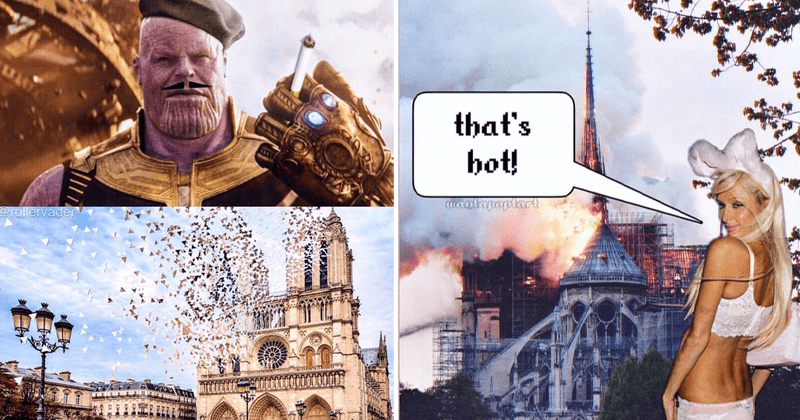 Twisted memes, Notre Dame cathedral, cathedral fight, anime.