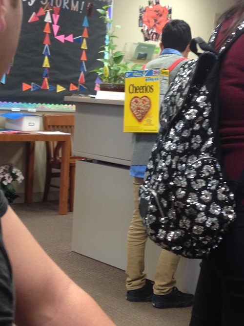 school,cereal box,poorly dressed,cheerios,cereal,backpack,g rated