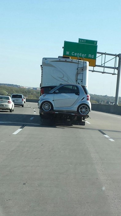 towing driving smartcar - 8171862272
