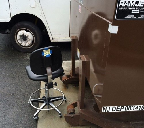 dumpster Office monday thru friday office chair work - 8171987968