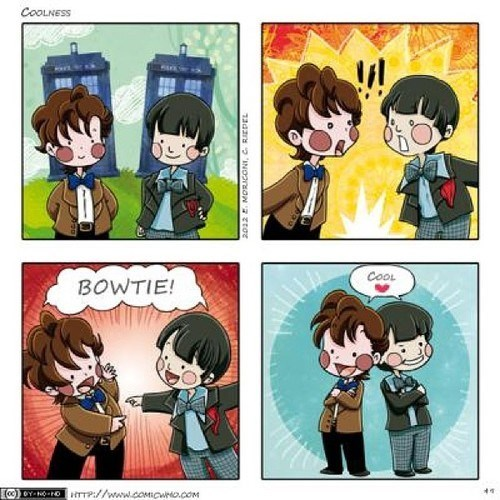 11th Doctor,bow ties,web comics