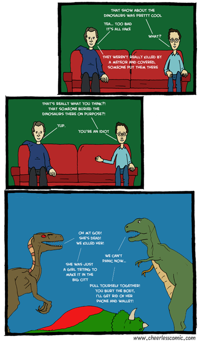 dinosaurs,sofas,theories,web comics
