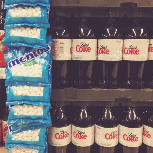 mentos,diet coke,store display,g rated,win