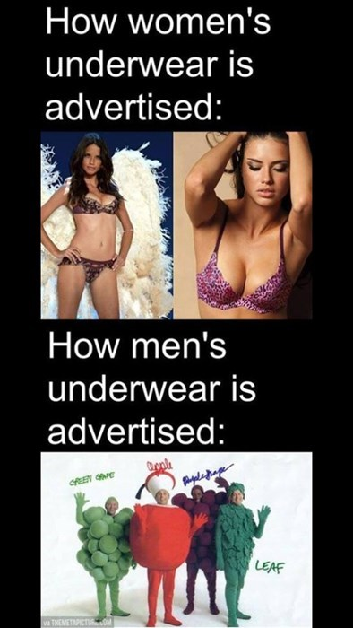 advertising men vs women underwear g rated dating - 8172260096