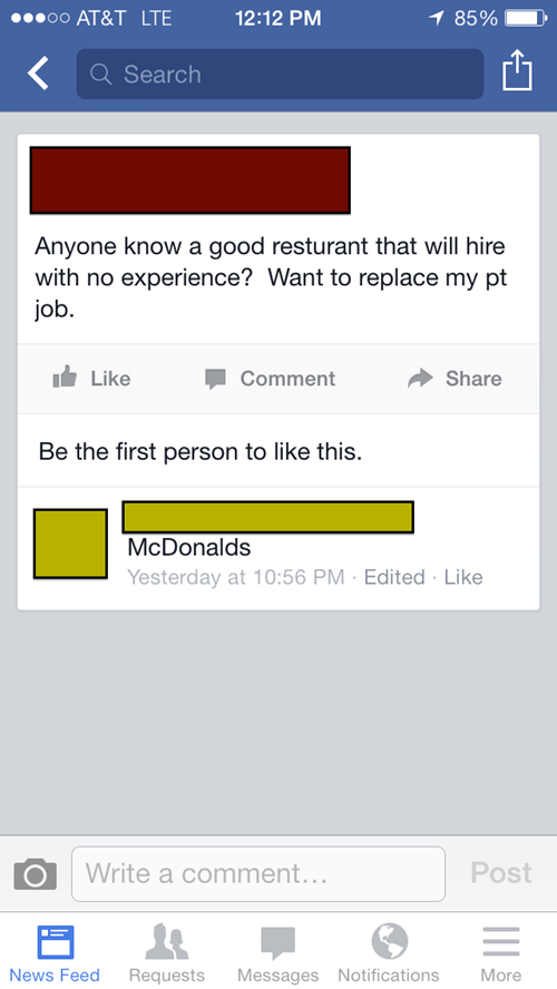 work McDonald's restaurant burn - 8172372224
