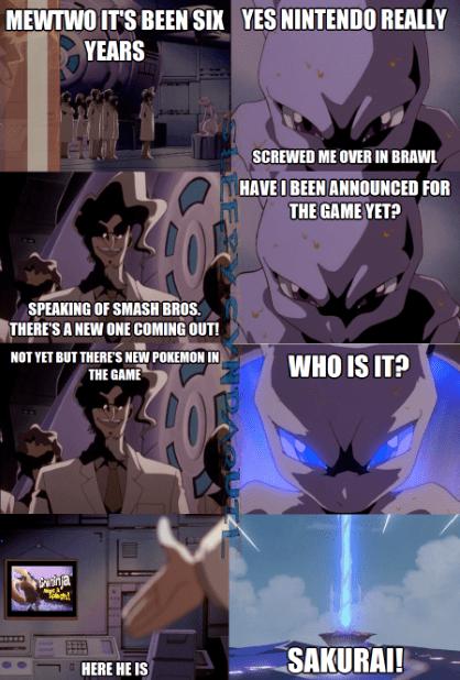 mewtwo,Pokémon,super smash bros,sakurai