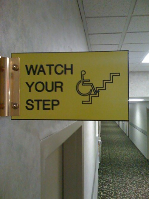 disabled,wheelchair,watch your step