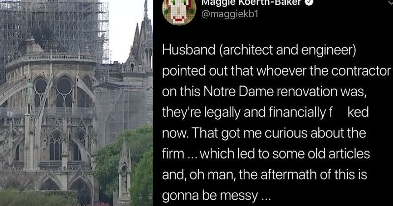 twitter news notre dame Fun Fact architecture educational social media - 8172805