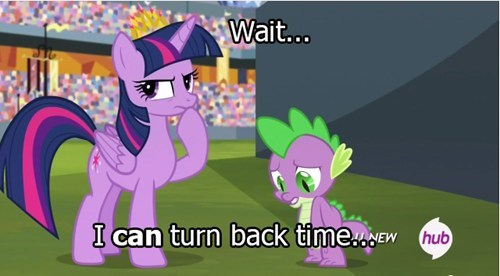 mlp logic twilight sparkle time travel