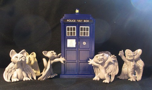 Cats crafts weeping angels - 8173272576