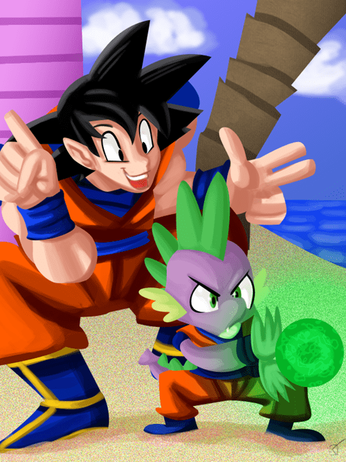 spike,dragon ball,Fan Art,goku
