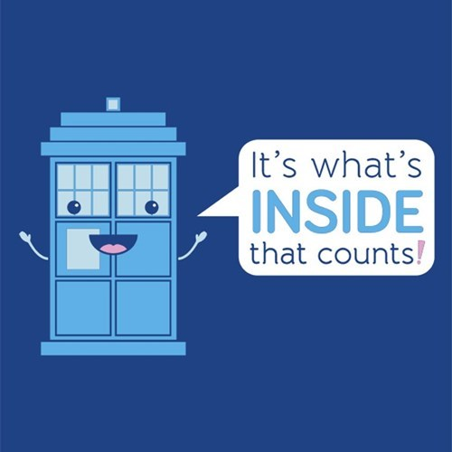tshirts tardis bigger on the inside - 8173655296