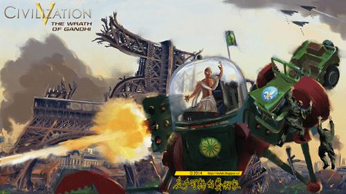 civilization Fan Art gandhi - 8173936384