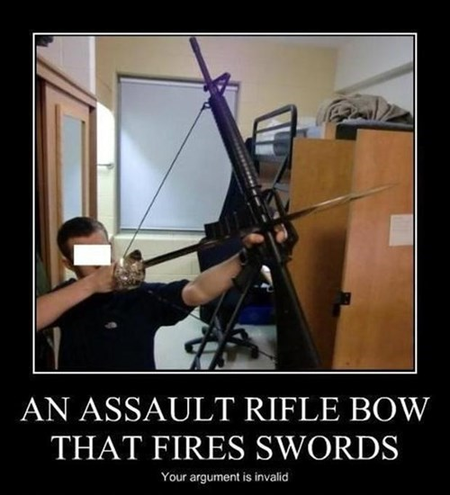 swords rifles weapons