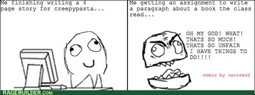 creepypasta,homework,rage