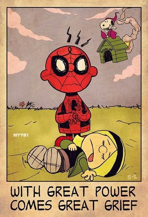 charlie brown,Spider-Man,gwen stacy