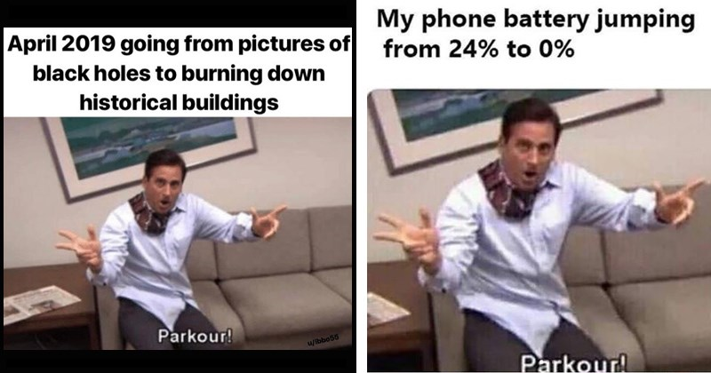 parkour memes from the office tv show