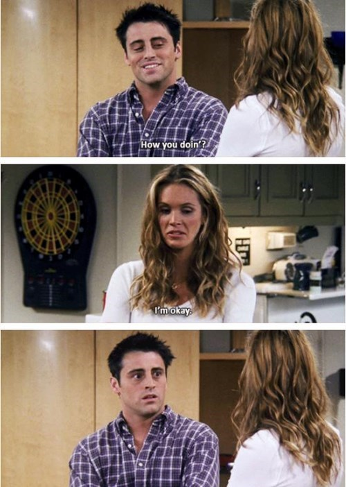 flirting friends Joey women