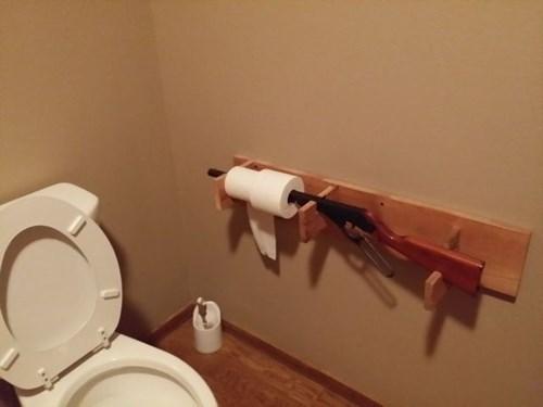 guns,toilet paper
