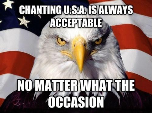 chanting,murica eagle
