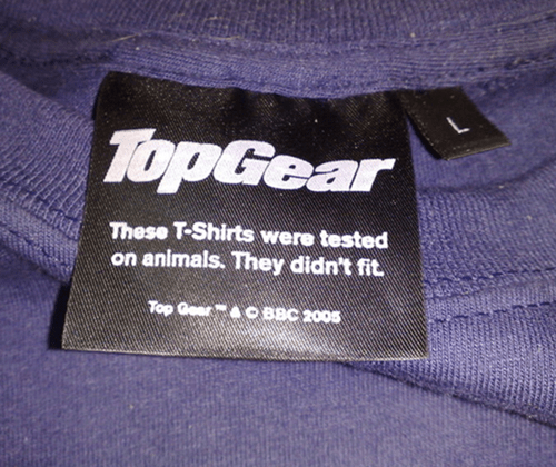 label monday thru friday t shirts top gear poorly dressed tag - 8174759936