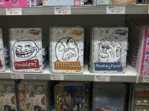 Memes notebook school trollface rage
