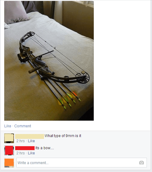 bow,guns,for sale,facepalm