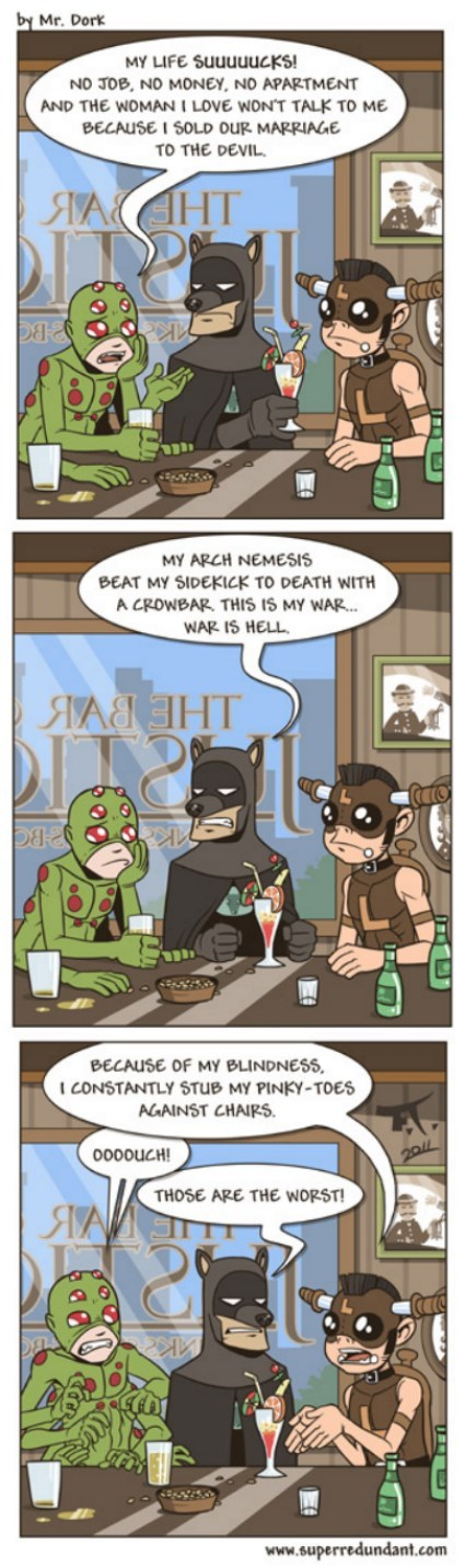 superheroes,ouch,web comics
