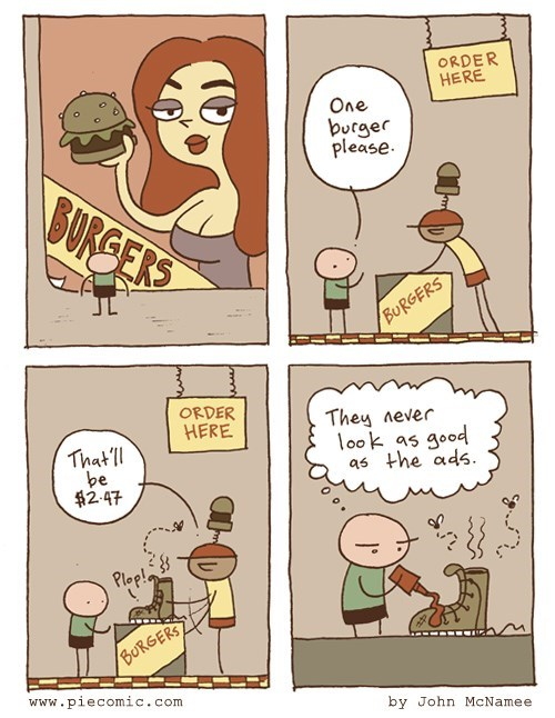 ads,burgers,sad but true,web comics