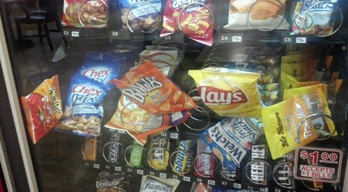 monday thru friday,work,vending machine