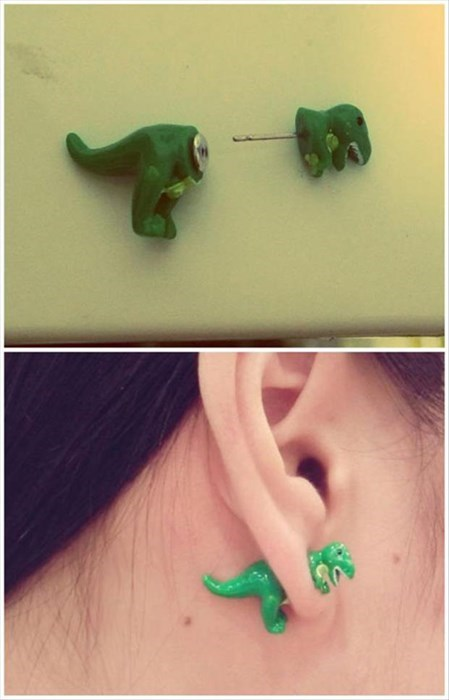 earrings,dinosaurs,Jewelry,win,poorly dressed,g rated