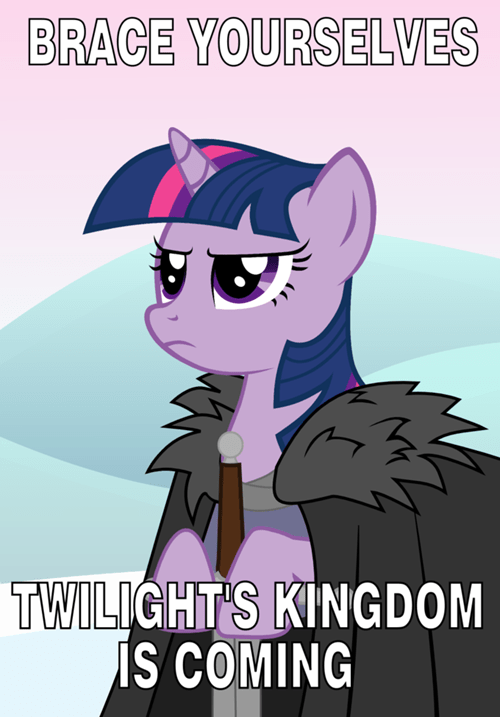 twilight sparkle,brace yourselves,ponify
