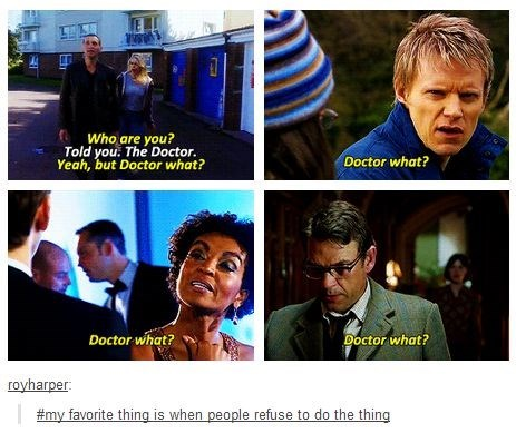 doctor who,puns,running gags,doctor what