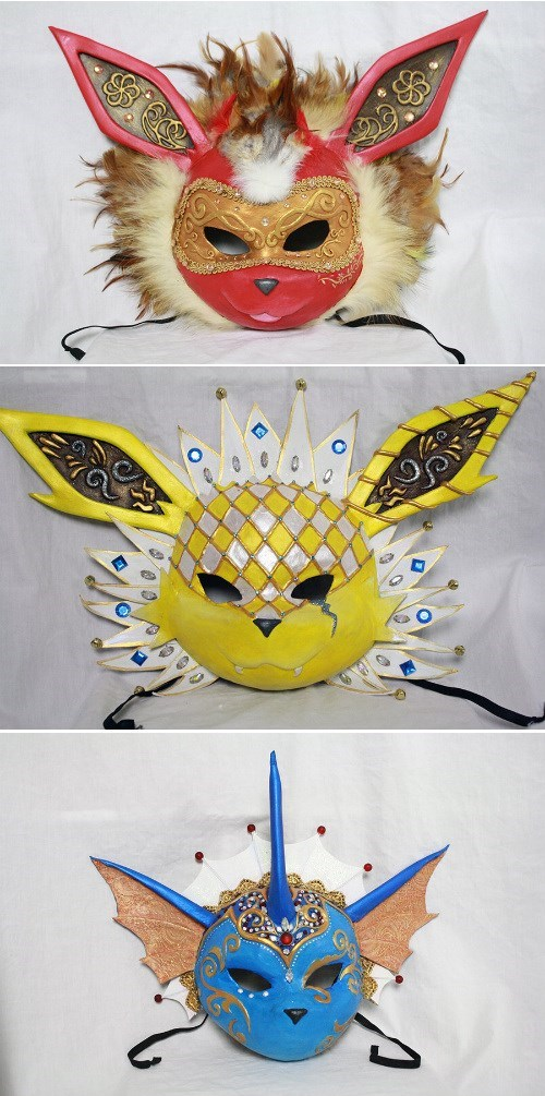 evolutions,eevee,masks