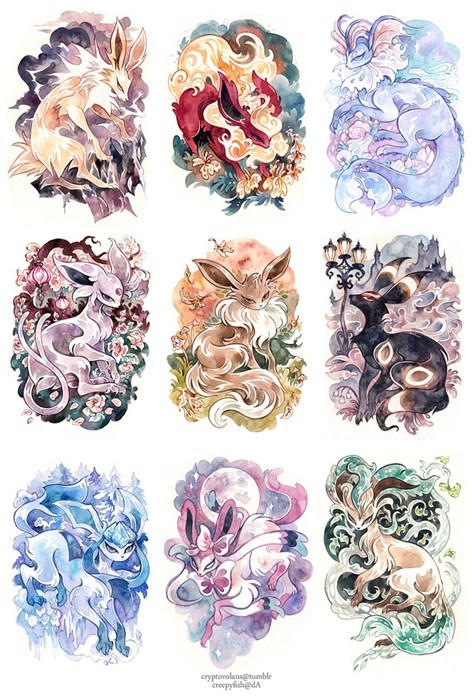 Fan Art eeveelutions eevee fancy - 8175152128