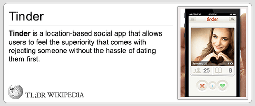 apps,online dating,wikipedia,tinder,failbook
