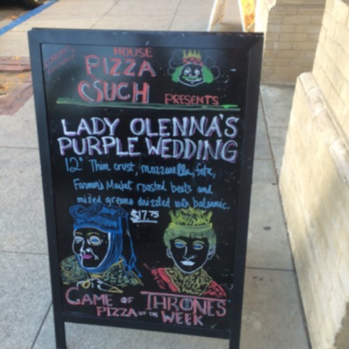 advertisements Game of Thrones pizza - 8175406848