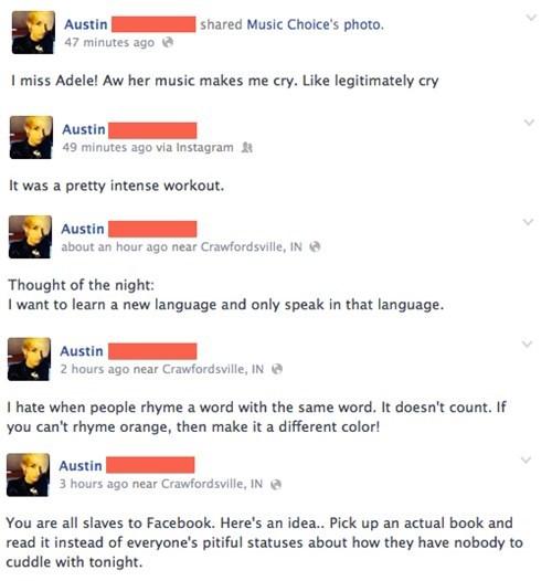 Oversharing facebook irony - 8175516416
