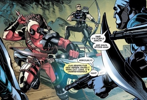 deadpool Straight off the Page hawkeye - 8176002560