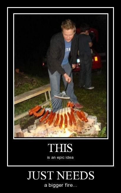 hotdog awesome fire bbq funny - 8176018176