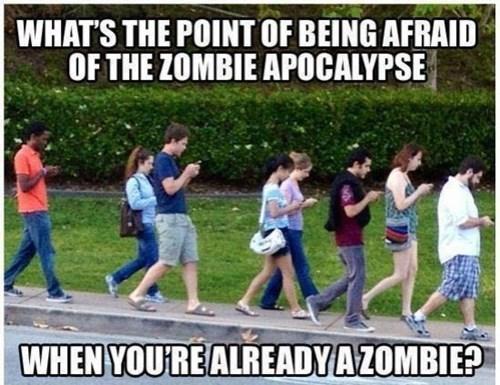 phones,zombie,burn