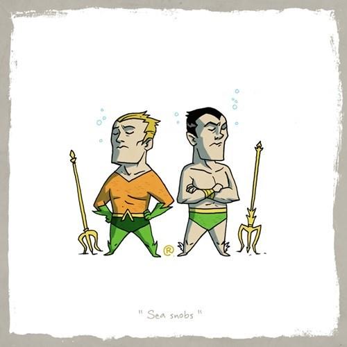 Cartoon - Sea snobs