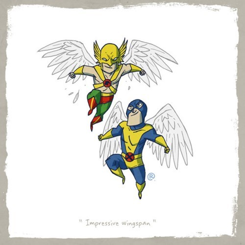 Fictional character - Impressive wingspan
