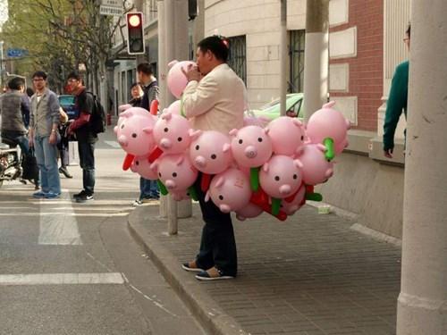 monday thru friday work Balloons pig - 8176110848
