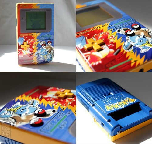 custom game boy IRL mods Pokémon video games